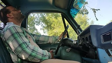 Jacking off in a Classic truck