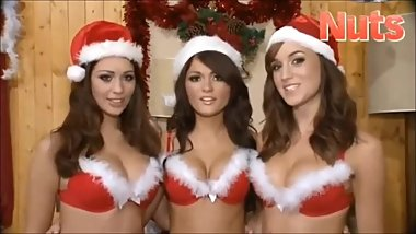 Classic Holly Peers, India Reynolds & Rosie Jones at christmas