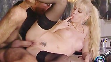 Slim blonde is hungry for some hardcore action