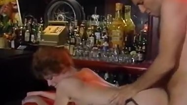 Nasty couple fuck in the bar