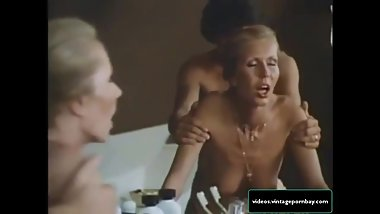 Classic Stepmother and Son Fucking in their Bathroom