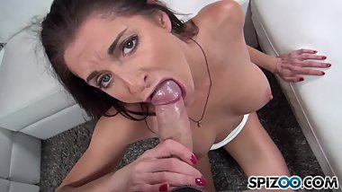 Hot french MILF suck and fuck a huge cock, Silvia Saige - FirstClassPOV