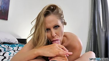 Hot blonde MILF Hardcore fucking a monster cock, Julia Ann - Spizoo