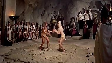 The Amazons (1973) Female Wrestling Match: Sabine Sun vs. Alena Johnston.