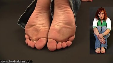 More F-alarm, old classic foot fetish stuff - Endra´s sexy soles