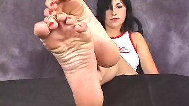 More hot classic foot fetish stuff, beautiful Alexis´ sexy soles closeup
